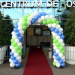 Ballonnenboog_groen_wit_blauw_rode_loper_afzetpalen_tuincentrum