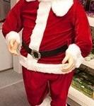 Kerstman zingend en dansend met bewegingssensor 150cm