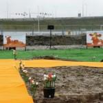 Kunstgras_verhuur_oranje_loper_lancering_nieuwbouw_WoonInvest_2009