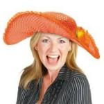 Oranje dames hoed