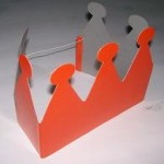 Oranje kroontje karton