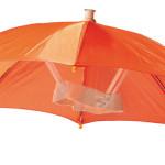 Oranje parapluhoed 60cm